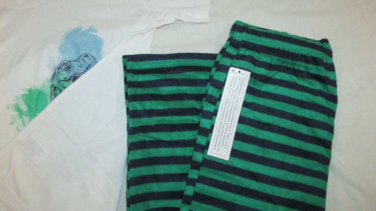 Boys NWT Target short sleeve top fleece pants bottoms Pajama Set dinosaurs 12/14