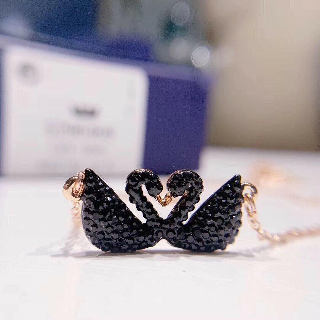 Swarovski ICONIC SWAN Double Swan Necklace pendant jewelry gift image 3
