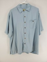 Joe Marlin Hawaiian Shirt Men's Size XXL Blue Silk (s) - $21.00