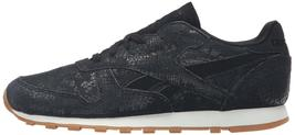 Reebok Women's CL LTHR Clean Exotic Print Track Shoe, image 8