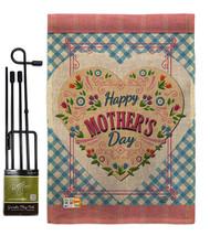 Floral Mother Day Burlap - Impressions Decorative Metal Garden Pole Flag Set GS1 - $33.97