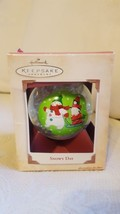 "Hallmark Christmas Ornament Snowy Day 2004 QX65454 Box Santa Claus & Snowman 4"" - $18.74"