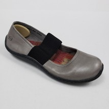 Born Acai Women Shoe 9M Mary Jane Skimmer Flat Leather Stone Gray - $29.99