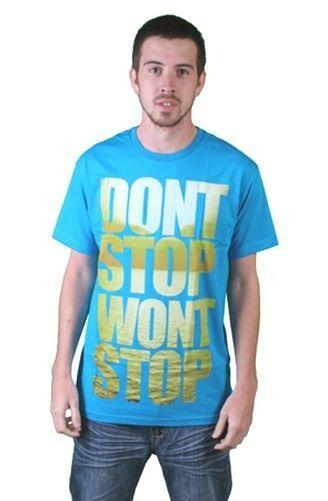 Tavik Hombre Turquesa Don'T Stop Won'T Stop Lake Agua Persistencia Camiseta Nwt