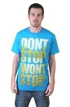 Tavik Hombre Turquesa Don'T Stop Won'T Stop Lake Agua Persistencia Camiseta Nwt image 1