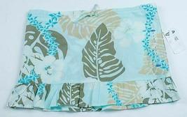Old Navy Girls Size 7 NWT Tropical Print Skirt Blue Brown Drawstring 100... - $9.89