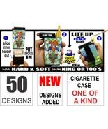 Cigarette Case Box Built On Lighter Holder Kings 100's RYO 75 Designs - $9.95