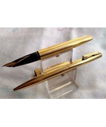 Sheaffer imperial vintage gold-plated fountain and ballpoint pen set - $159.00