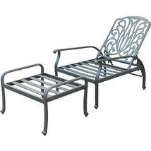Elisabeth 5pc set patio chaise lounge chairs cast aluminum outdoor furniture image 3