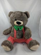 "Animal Adventure Brown Bear Plush 16"" Red Pants 2017 Stuffed Animal toy - $11.66"