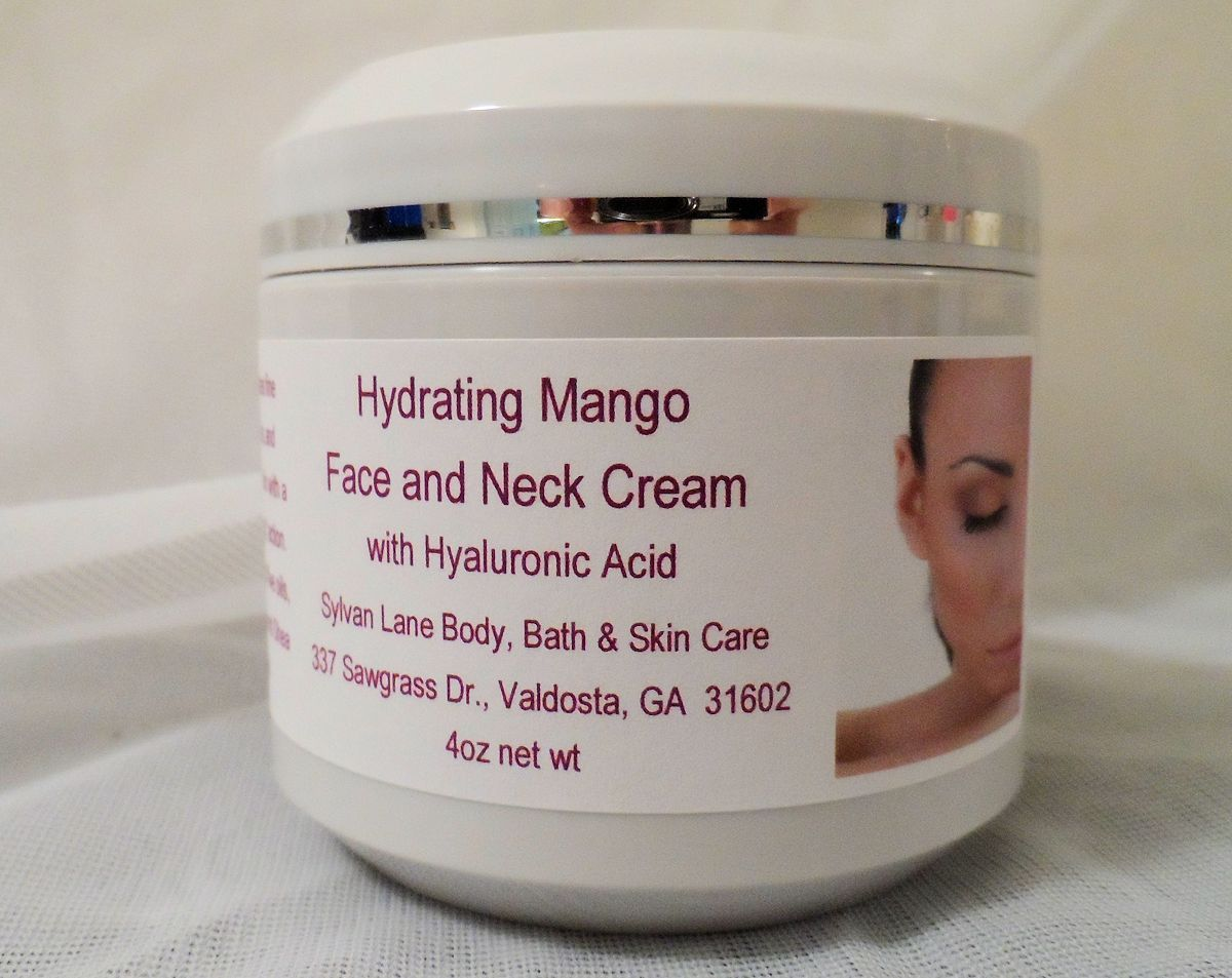 Hydrating Mango Facial Cream with Hyaluronic Acid 4oz Jar