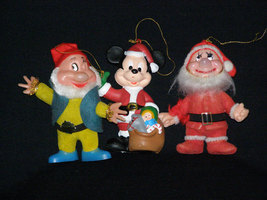 Vintage 1950s LOT of Three Disney Character Christmas Ornaments - $24.95