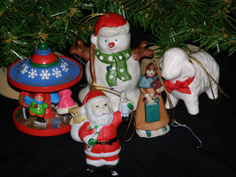 Vintage 1980s Lot of Christmas Ornaments Hallmark and Others - $12.95