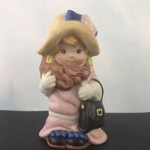 Wallace Berries Let's Pretend Ceramic Figurine Little Grandma with Purse... - $14.80