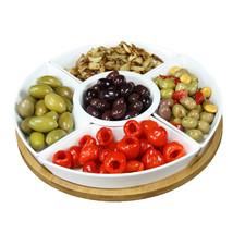 Elama Signature 12 1/4 Inch 6pc Lazy Susan Appetizer and Condiment Serve... - €35,41 EUR