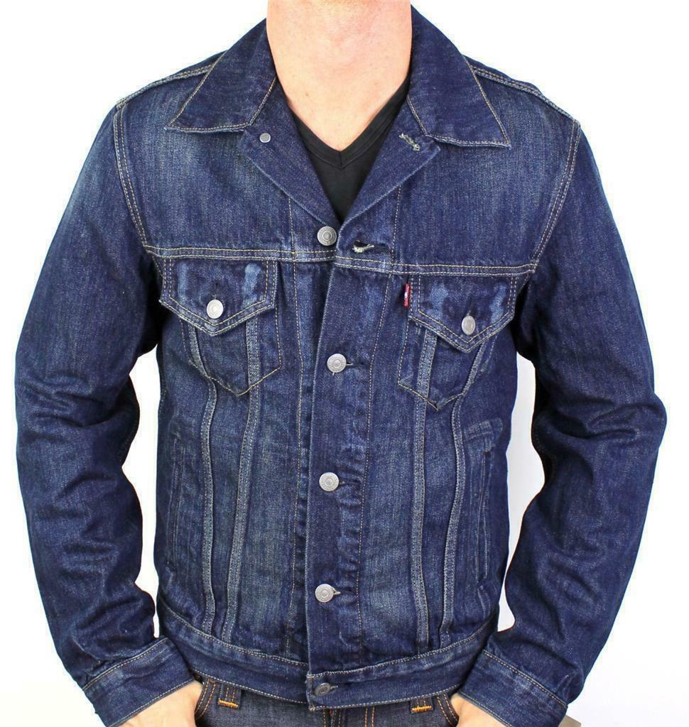 Levi's Men's Classic Cotton Button Up Blue Denim Jeans Jacket 707970013 Size XL