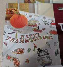 2- Amscan Paper Coloring Thanksgiving Table Cover - $11.87