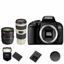 Canon T7i / 800D DSLR Camera Body + 24-70mm f/4 IS + 70-200mm f/4 IS + 430EXIII - $2,346.09