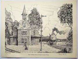 Point of Rocks Station During the Age of Steam      1983 Print      Jame... - $47.00