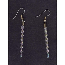 Funky ICICLE EARRINGS-Winter Holiday Ornament Charm Frozen Elsa Costume ... - $6.97