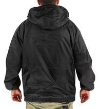 Lax Men's Water Resistant Removable Hood Security Reversible Jacket Black image 4
