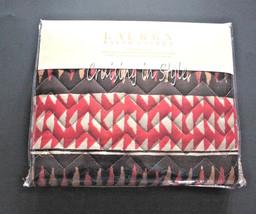 Ralph Lauren Pillow Sham Heritage Batik Geometric Standard $130 Quilted NEW - $59.28