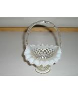 Vintage Fenton French Opalescent Hobnail Basket - 1950s - €22,69 EUR