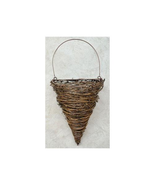 """Cone Wall Basket 17.5"""" Planter Outdoor Landscape Wrapped Twigs Garden - $36.62"""