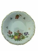 Reichenbach German 5 inch gold etched fruit painted bread salad plate - $9.49
