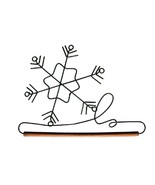 "Snowflake Wire Hanger 12"" wooden dowel cross st... - $8.55"