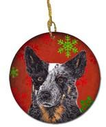 Caroline's Treasures SC9436-CO1 Australian Cattle Dog Red Snowflakes Hol... - $18.83
