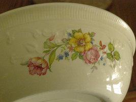 Vintage Homer Laughlin Oven Serve Casserole Dish Ceramic Bowl Floral 195... - $19.25
