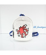 NWT Kipling KI6982 Delia Compact Keith Haring Mini Convertible Backpack Multi - $108.95