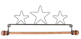 "Three Stars Wire Hanger 7.5"" wooden dowel needlework quilt hanger Ackfel... - $11.70"