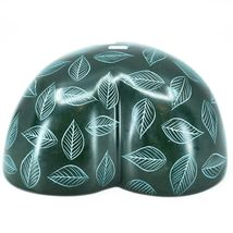 Vaneal Group Hand Carved Kisii Soapstone Green Heart Decorative Candy Bowl Kenya image 4