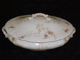 Beautiful Antique Mellor and Co- White Granite Ware 1894 Covered Vegetab... - $72.25