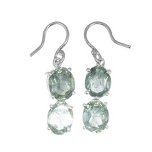 Faceted-Green Amethyst 925 Sterling Silver Women's Wedding Anniversary E... - $14.88
