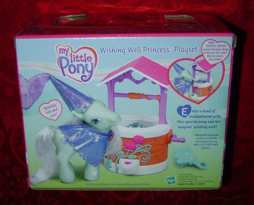 My Little Pony Wishing Well Princess Playset Crystal Crown G3 2003 Hasbro