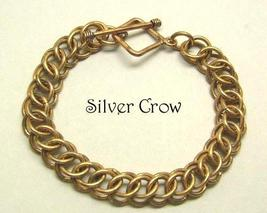 Chainmail Bronze 3 in 1 1/2 Persian Bracelet Ch... - $43.99