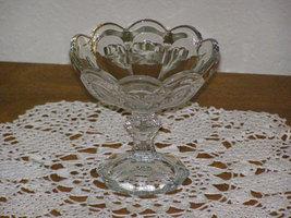 Vintage Glass Pedestal Candy Bon Bon Dish Compote - $14.95