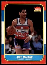 1986-87 Fleer Basketball Premier Jeff Malone Washington Bullets #67 - $0.50