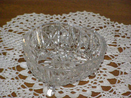 Princess House 3 Sided Candy Dish  Bavarian Lead Crystal 3 Footed Dish - $19.50