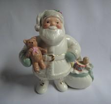 Lenox Hand-Painted China & Gold Santa Figurine Xmas Decor w/ Slight Flaw - $10.49