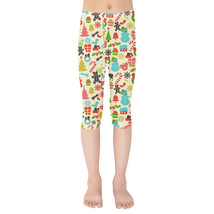 Hidden Mickeys Colorful Retro Disney Christmas Kids Capri Leggings - $35.99+
