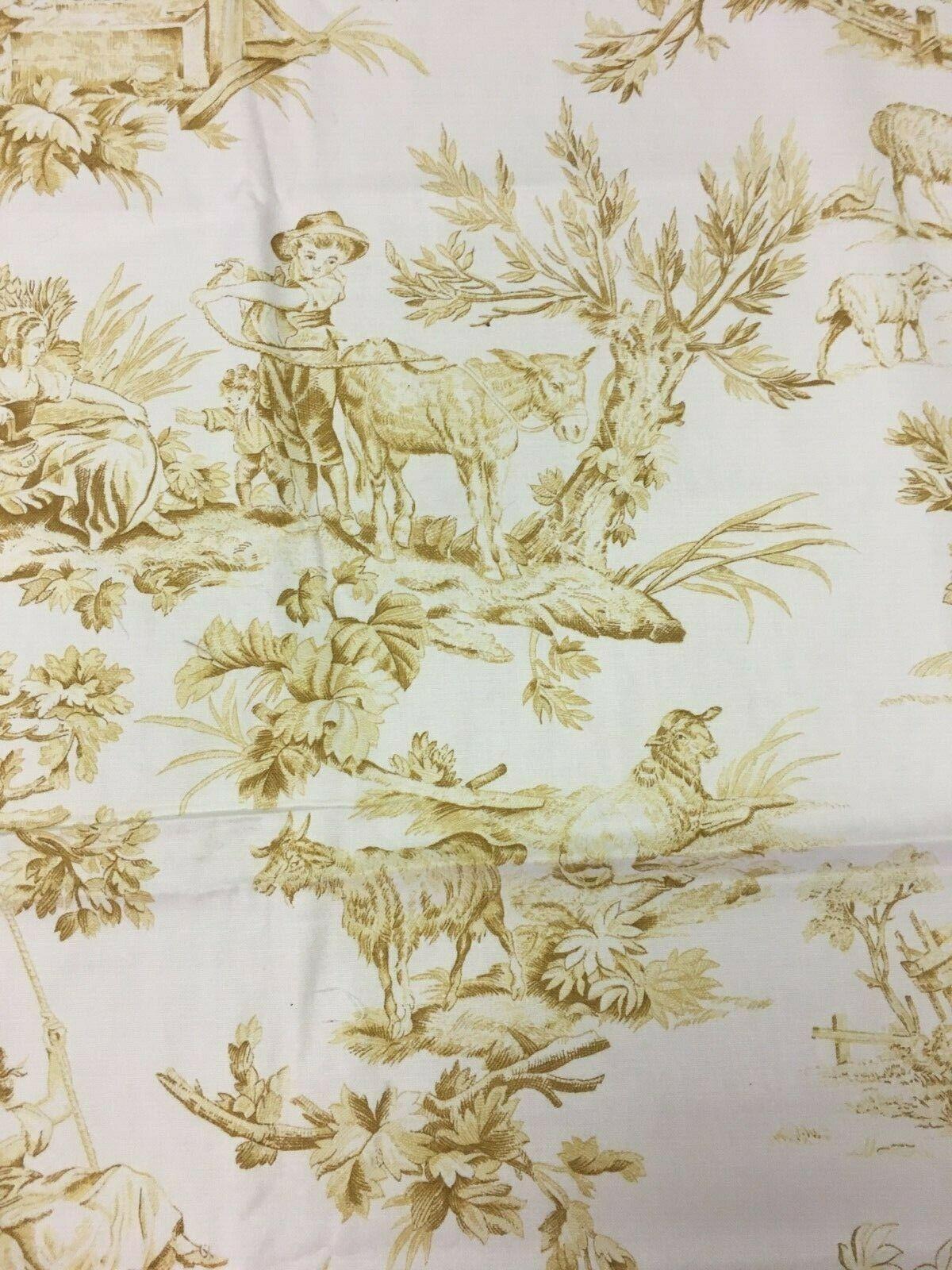Spectrum Multi-Purpose Fabric Gold Pastoral Toile 1.875 yds