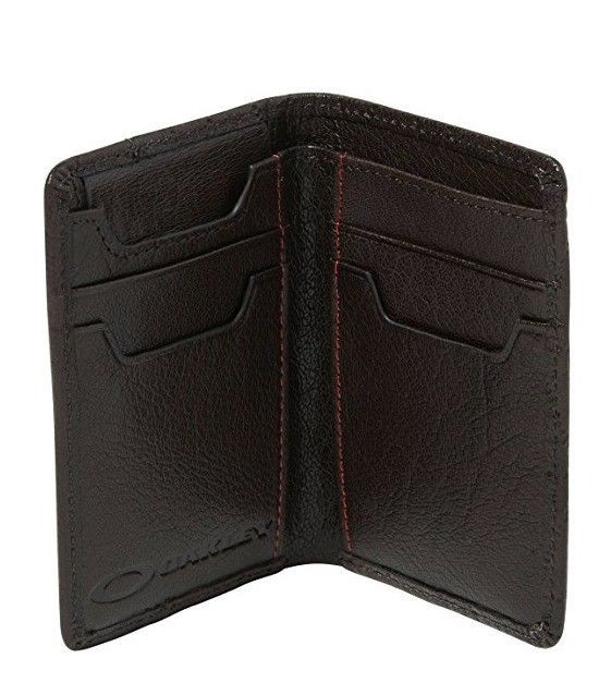 63416078865b Oakley Mens Leathers Slim Wallet, Brown and 14 similar items