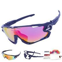 SALE ! 3 Lens Mens Polarized Brand Cycling Glasses Mountain Bike Goggles... - $32.40+