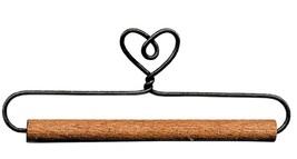 """Single Heart Wire Hanger 7.5"""" wooden dowel needlework quilt hanger Ackfeld Mfg - $3.85"""