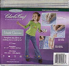 Waste Canvas 8.5 count 12x18 cut cross stitch canvas fabric Charles Craft - $2.40