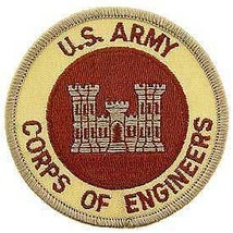 ARMY CORPS OF ENGINEERS EMBROIDERED DESERT MILITARY PATCH - $15.33